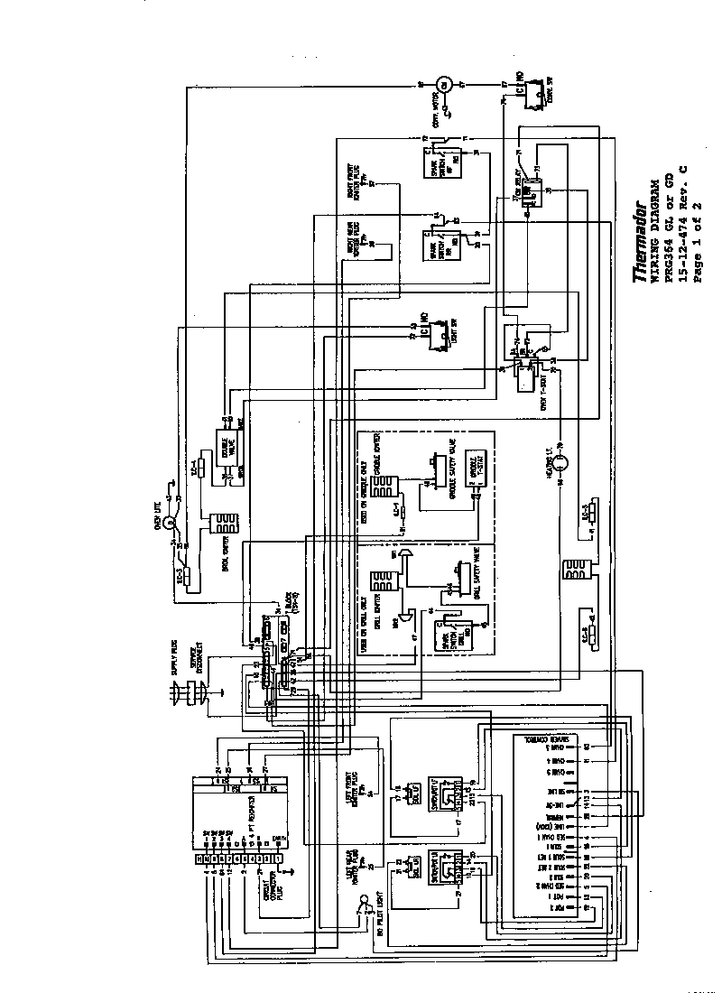 Thermador model PCS366 counter unit, gas genuine parts