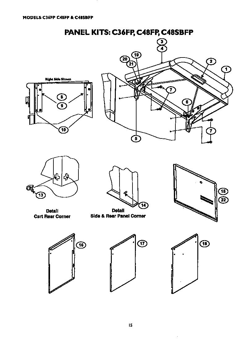 Thermador model CGB36RU grill, gas genuine parts