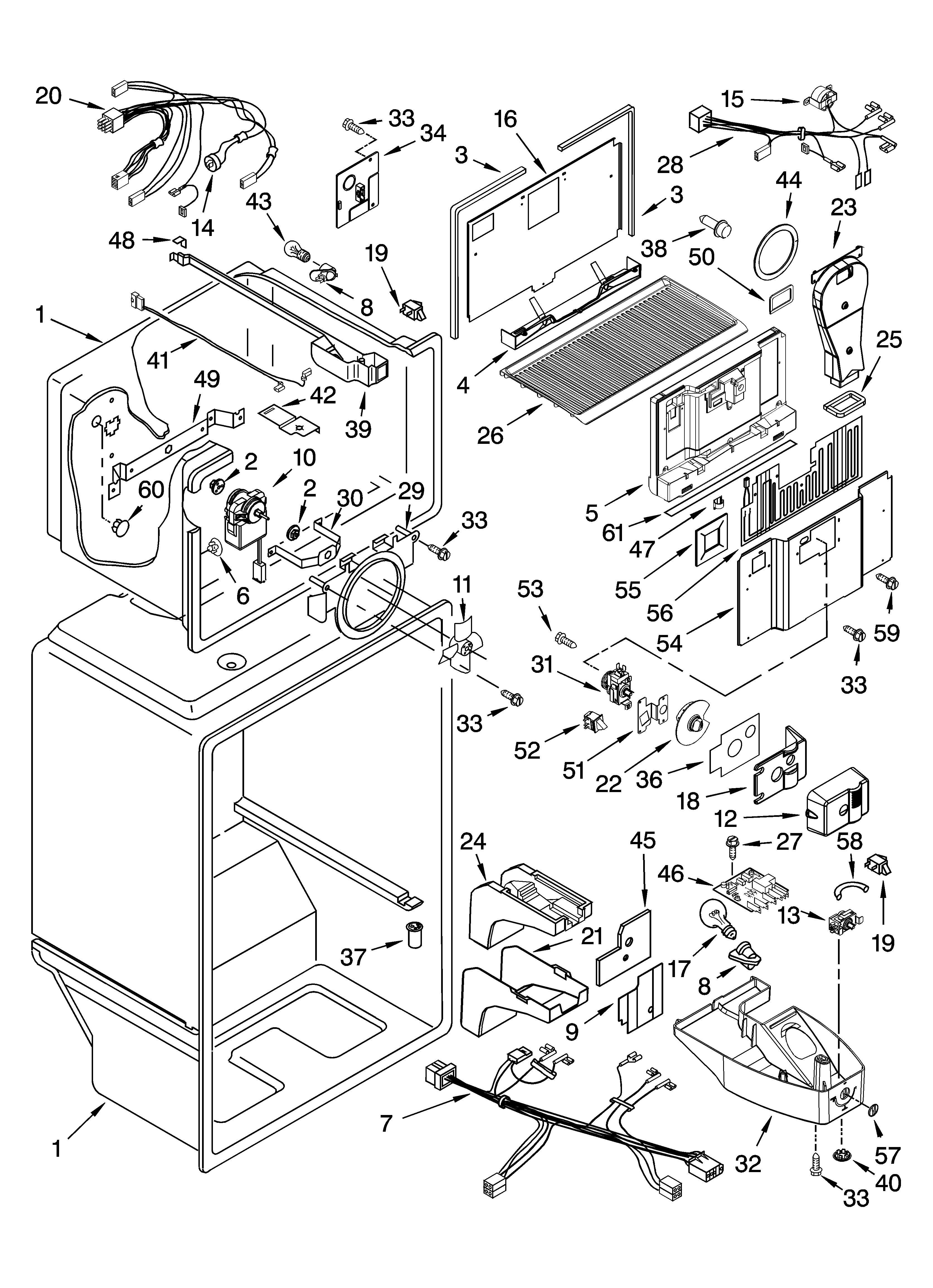 Gladiator model GAFZ21XXRK00 all refrigerator genuine parts