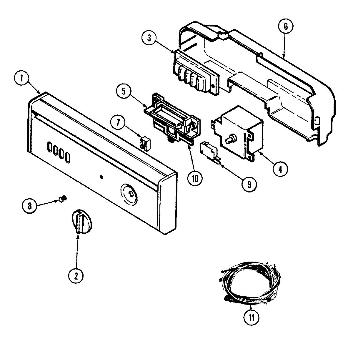 Maytag model DWU7400AAX dishwasher genuine parts