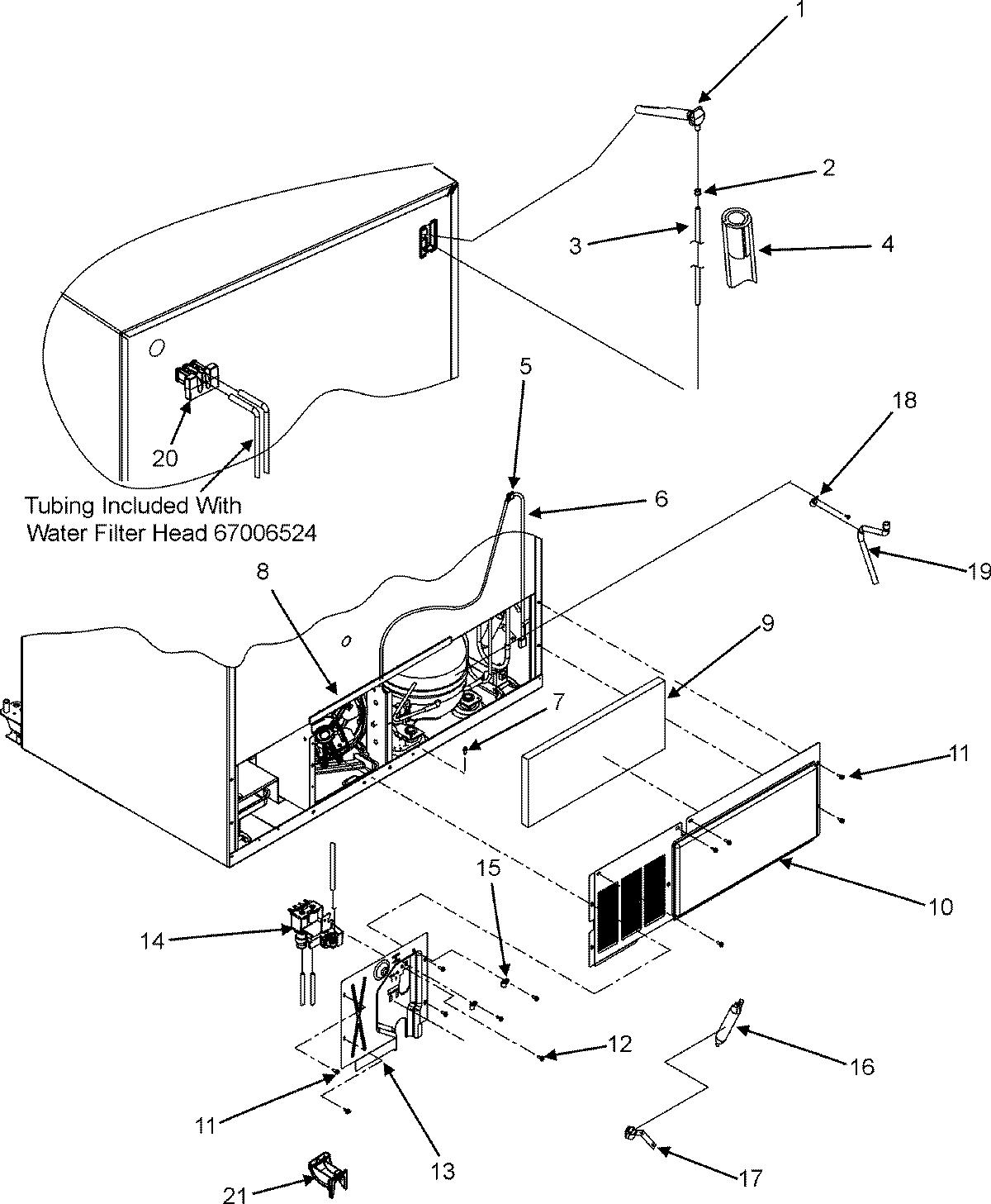 Maytag model MSD2651KES side-by-side refrigerator genuine