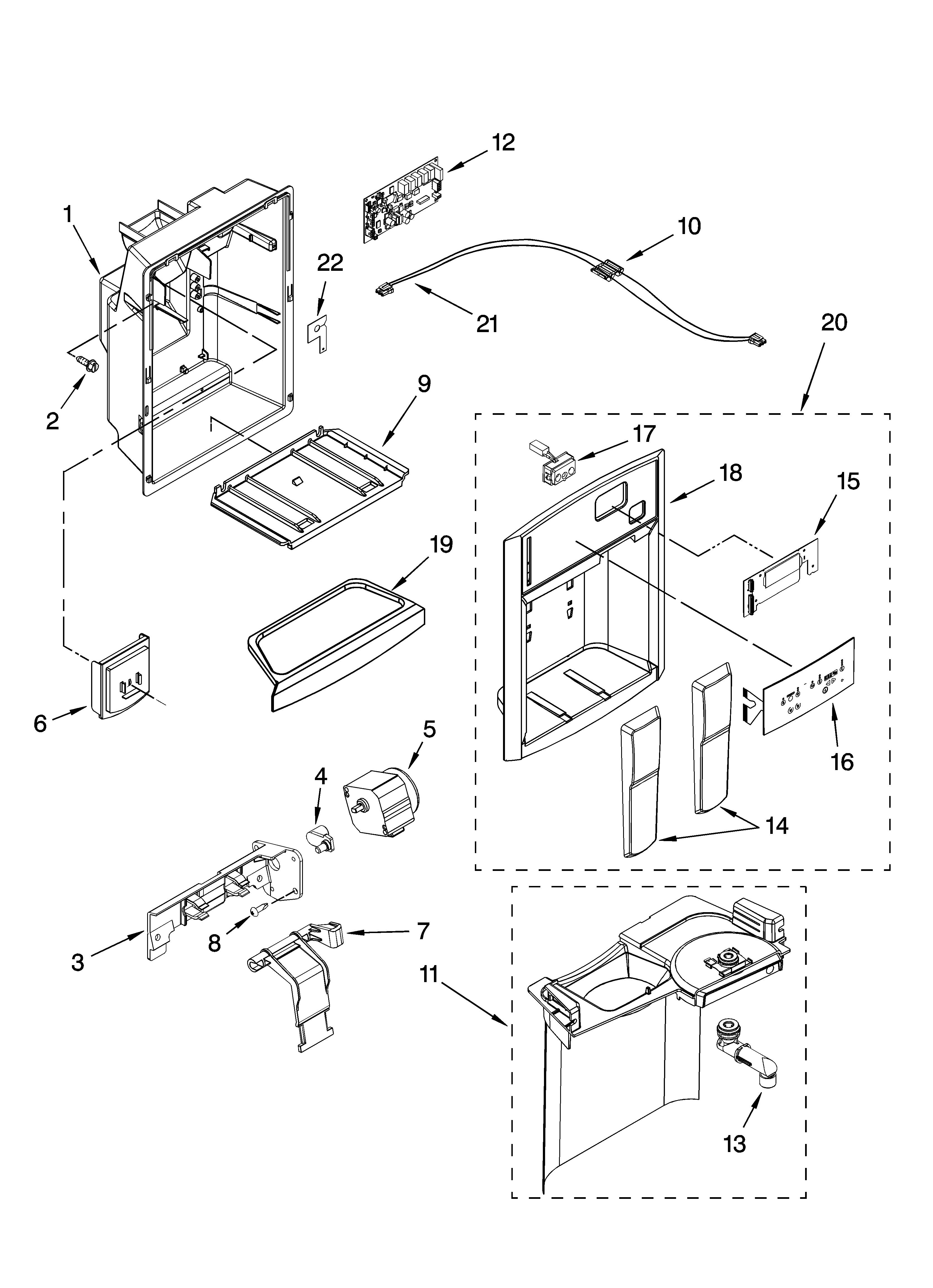 Whirlpool model GC3NHAXVQ00 side-by-side refrigerator