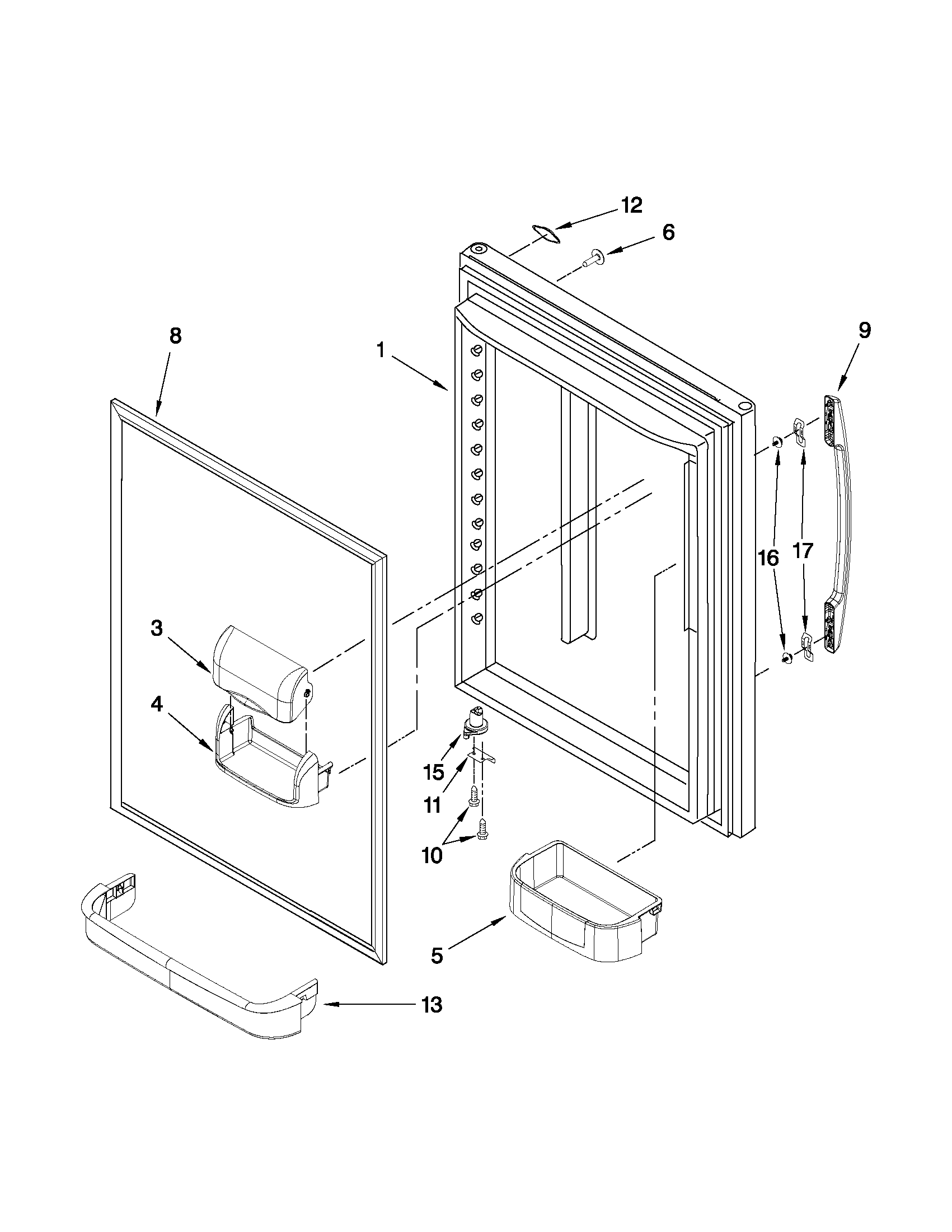 Maytag model MBF2258XEB1 bottom-mount refrigerator genuine