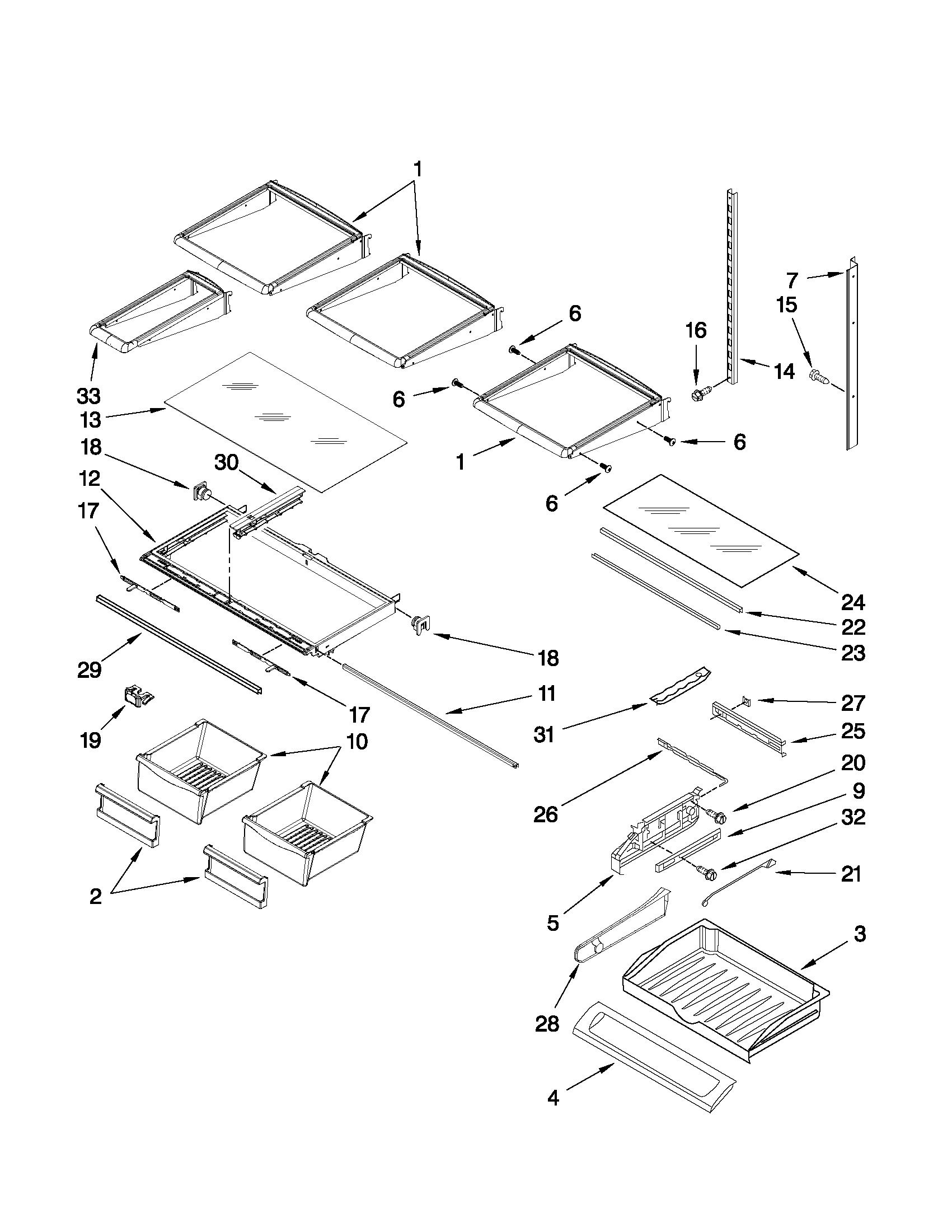 Whirlpool model GI6FDRXXY02 bottom-mount refrigerator