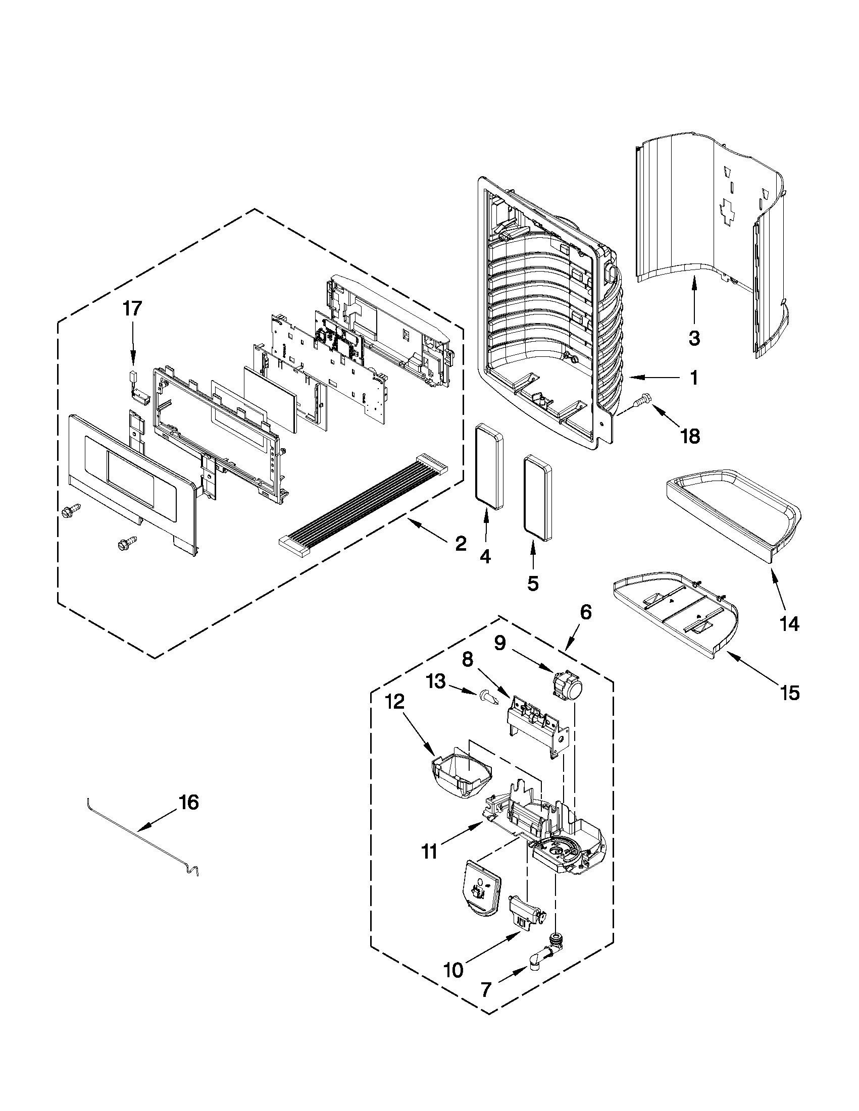 Maytag model MFI2665XEW3 bottom-mount refrigerator genuine