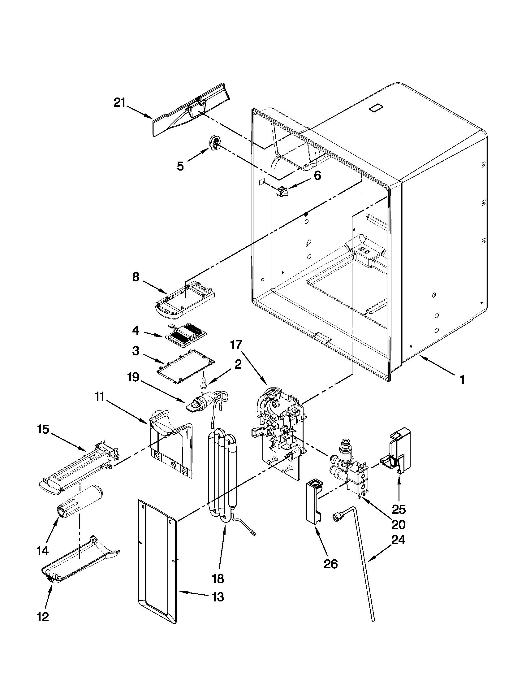 Whirlpool model GZ25FSRXYY2 bottom-mount refrigerator