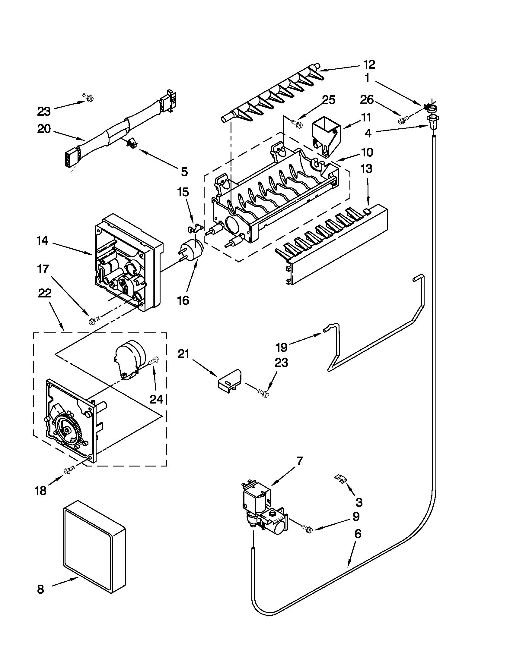 Maytag model M1TXEMMWW04 top-mount refrigerator genuine parts