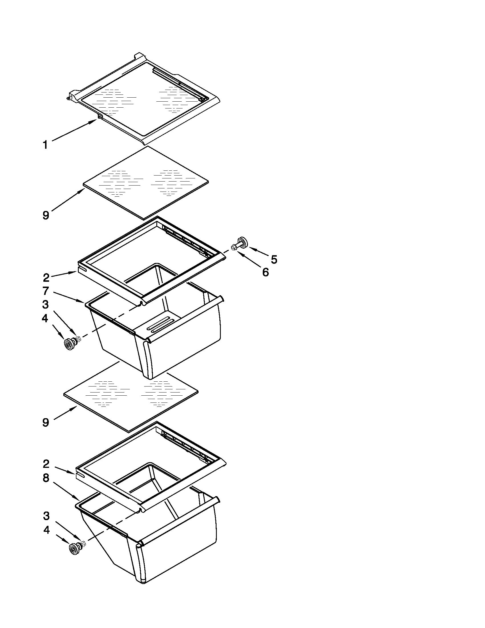 Whirlpool model ED5KVEXVB07 side-by-side refrigerator