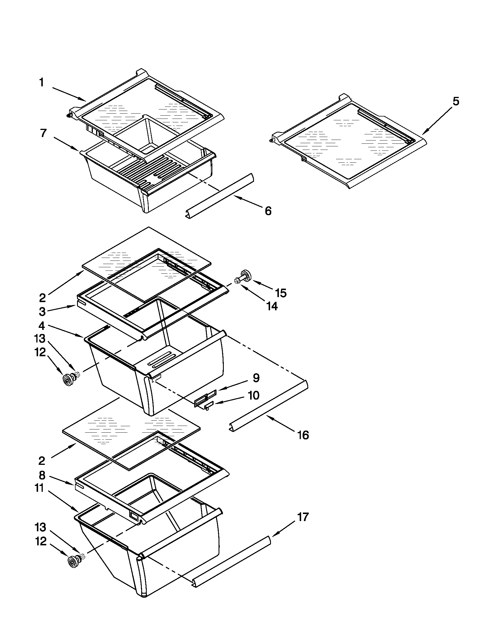 Whirlpool model ED5PVEXWS08 side-by-side refrigerator