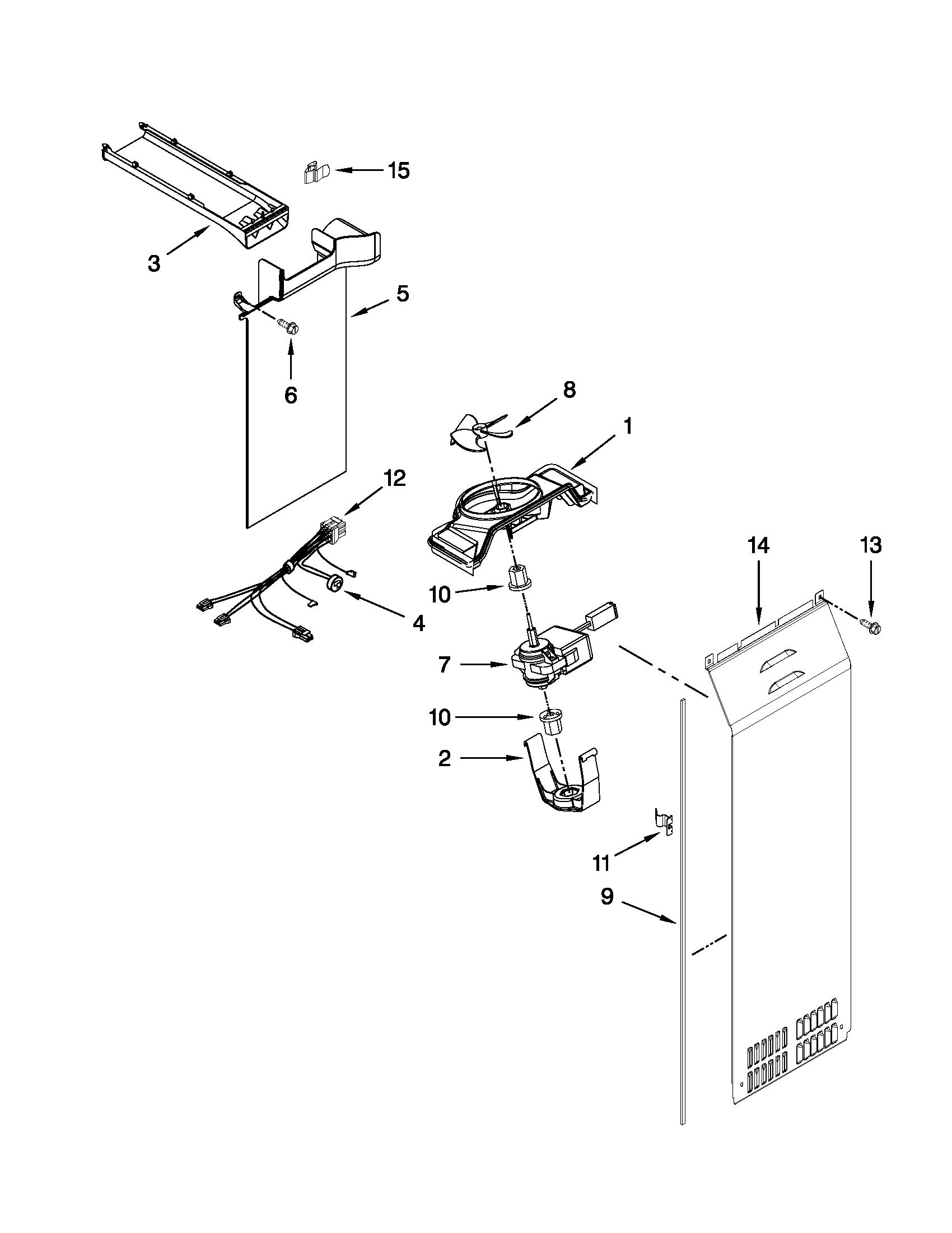 Whirlpool model GSS30C6EYY03 side-by-side refrigerator