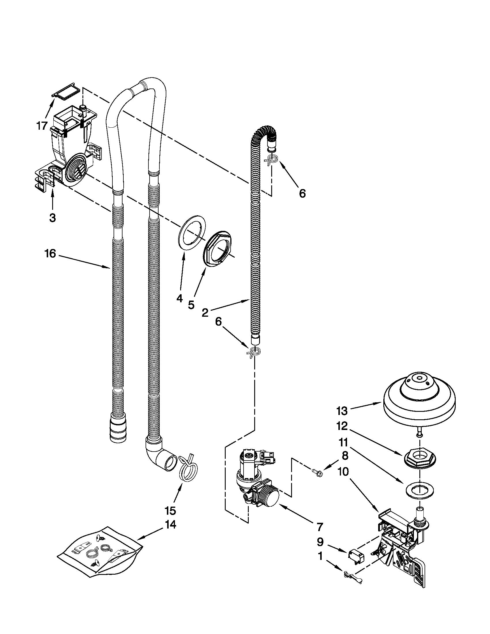 Kitchenaid model KUDC10IXSS7 dishwasher genuine parts