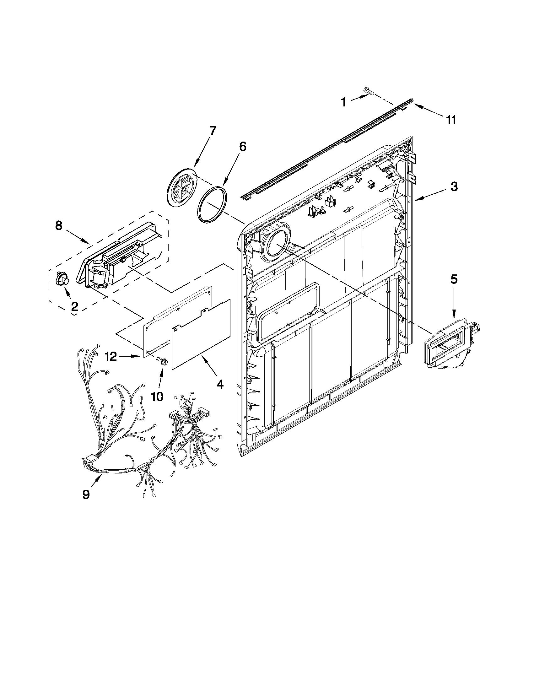Whirlpool model WDF530PAYW3 dishwasher genuine parts