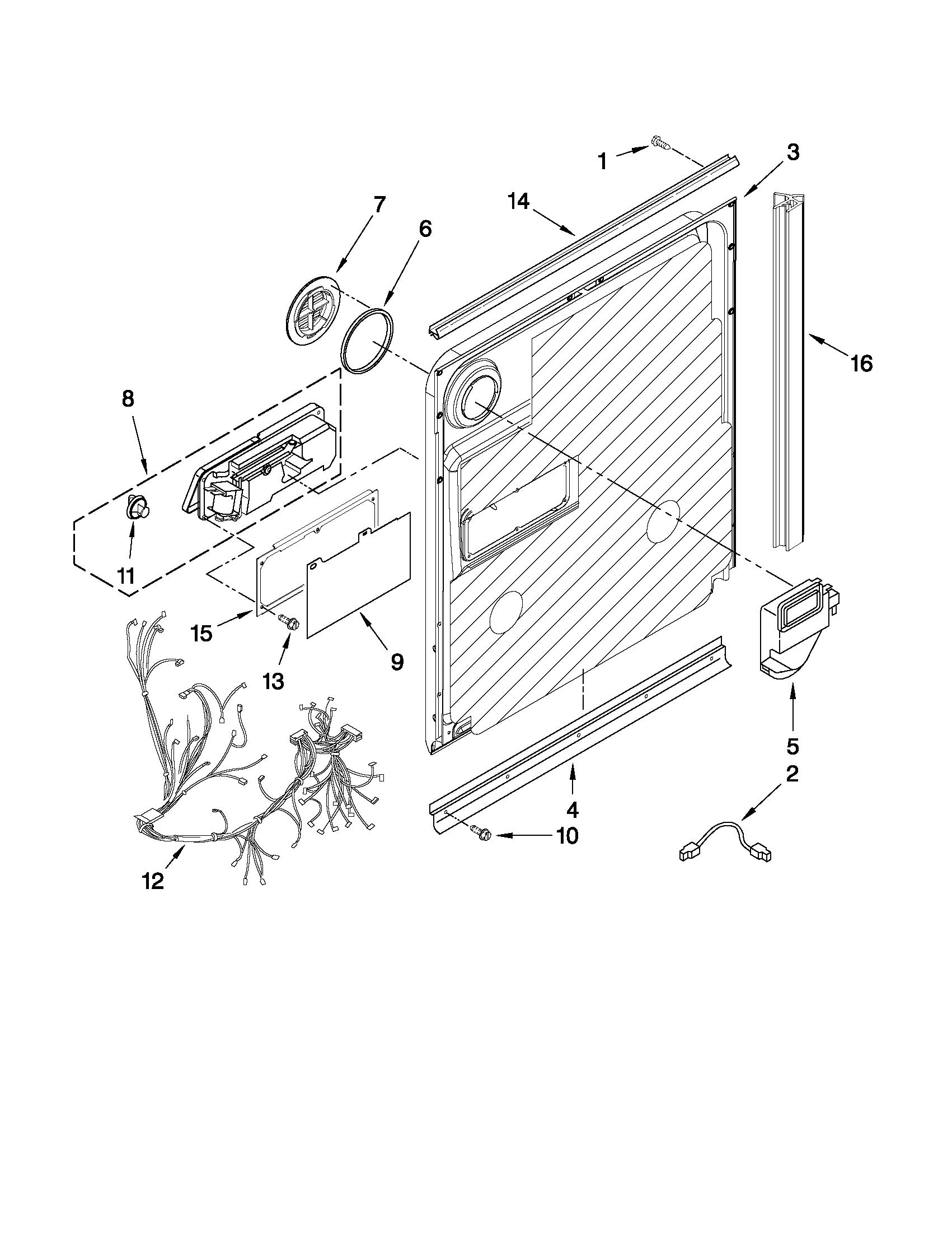 Maytag model MDB7749AWW2 dishwasher genuine parts