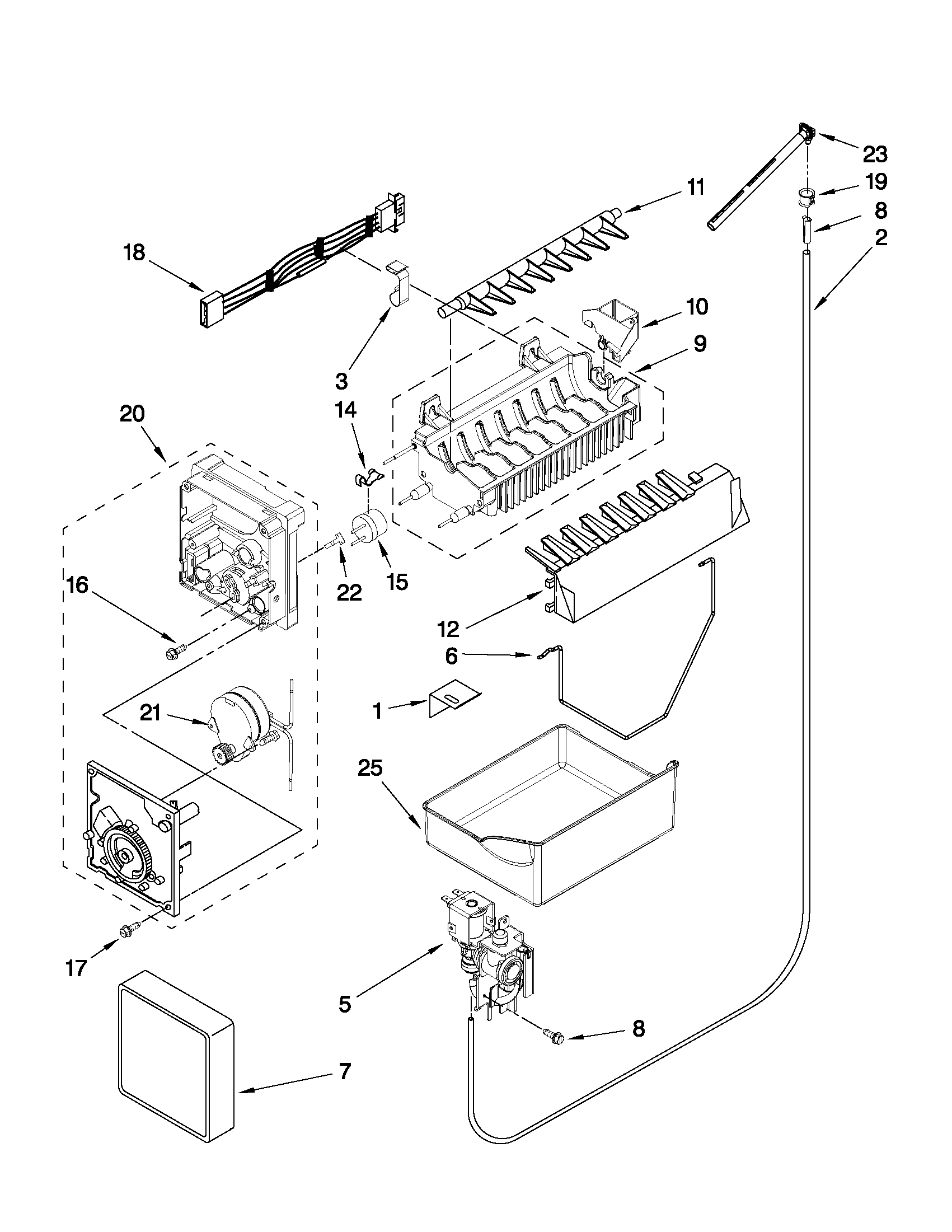 Maytag model MBF1958XEW4 bottom-mount refrigerator genuine