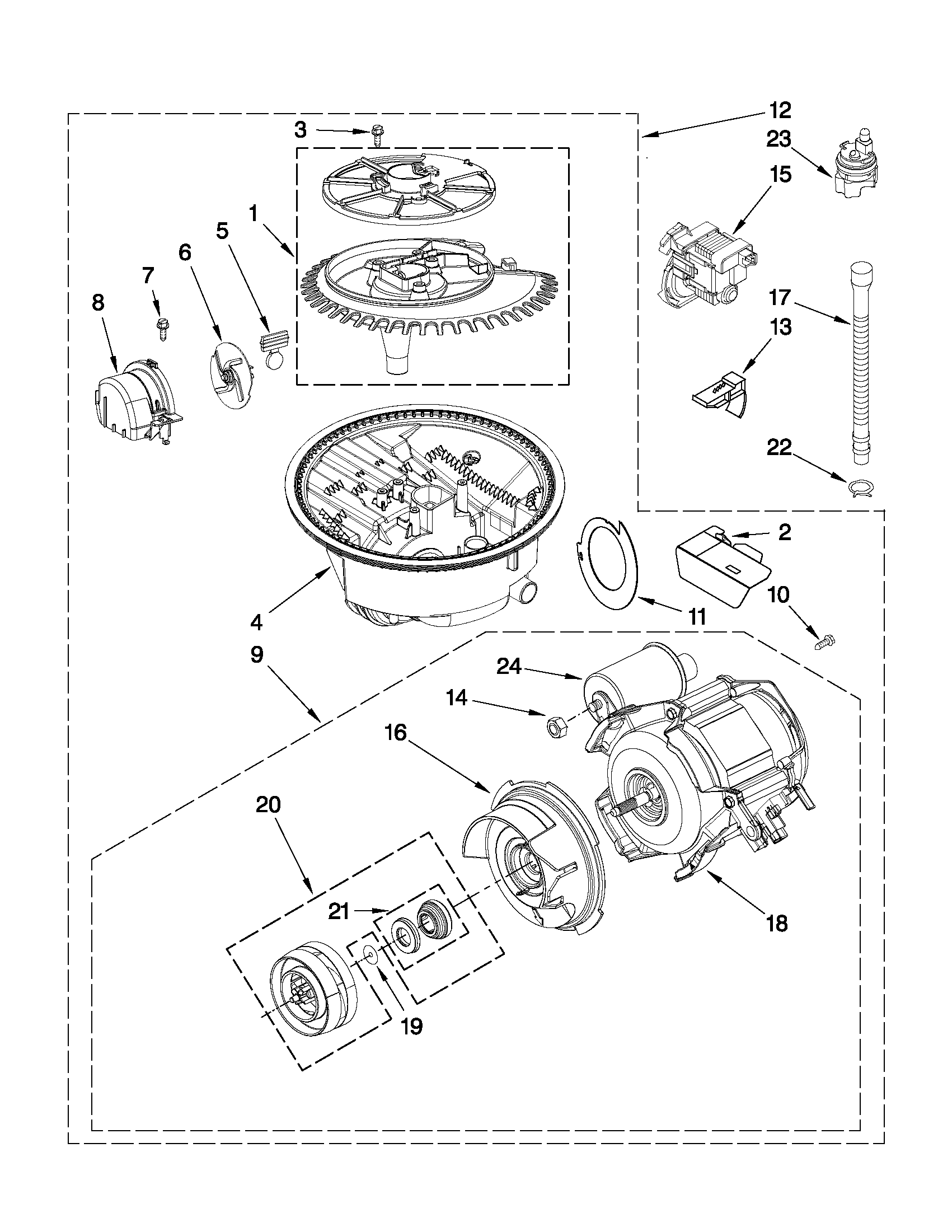 Kitchenaid model KUDC10FXSS3 dishwasher genuine parts
