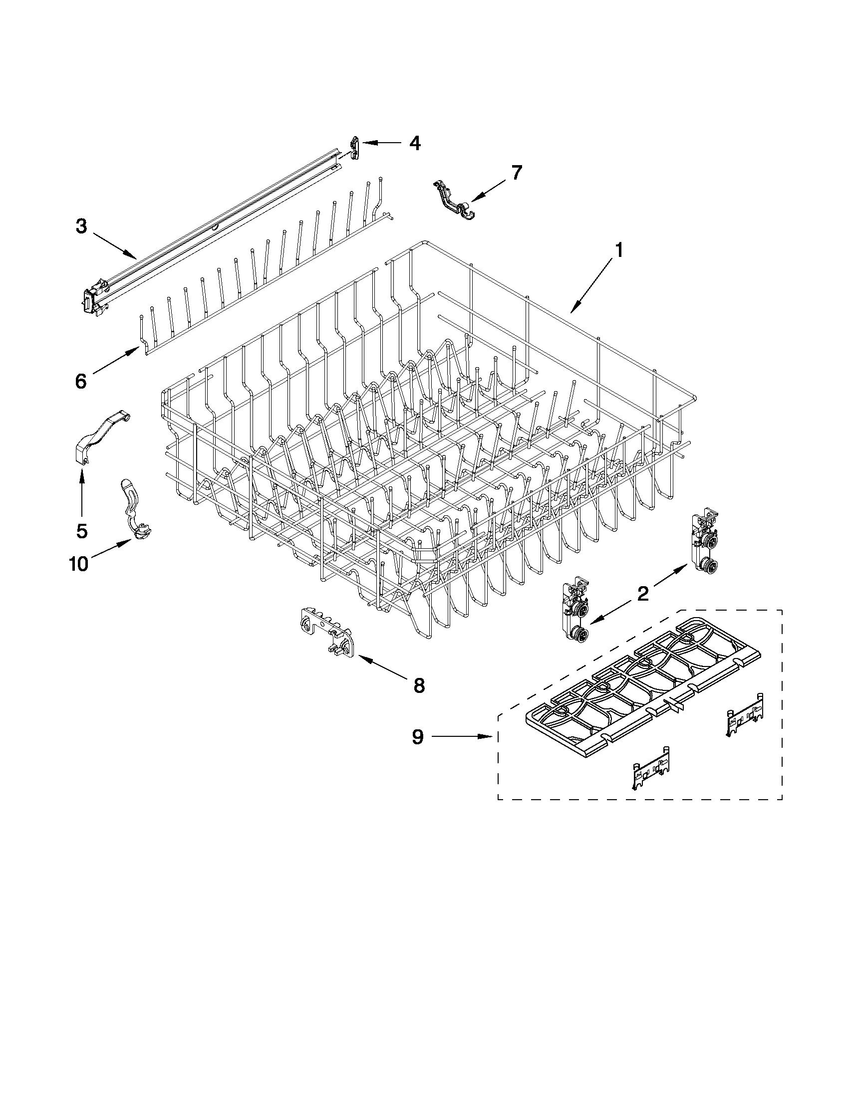 Whirlpool model WDT710PAYM3 dishwasher genuine parts