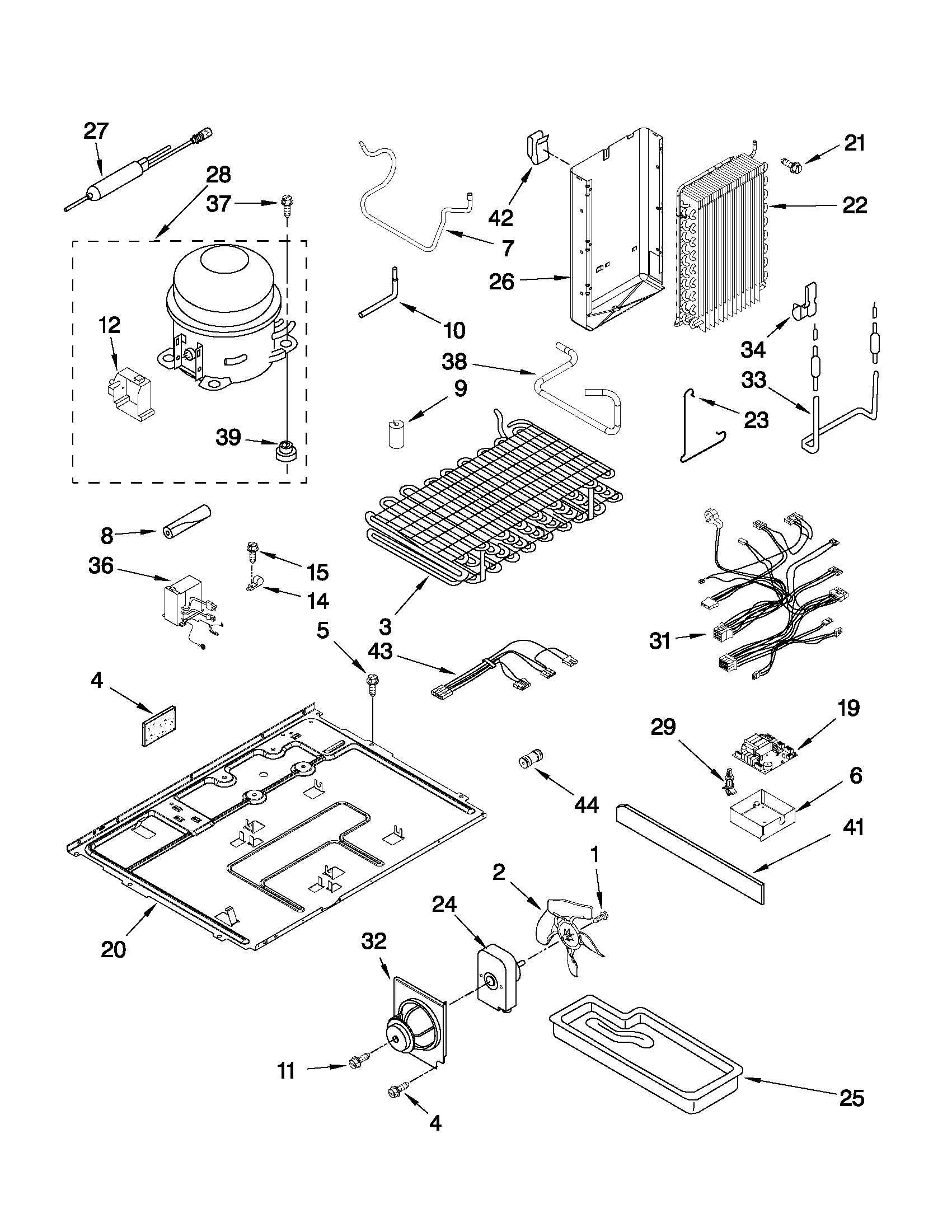 jenn air refrigerator parts diagram simple wiring diagrams side by model