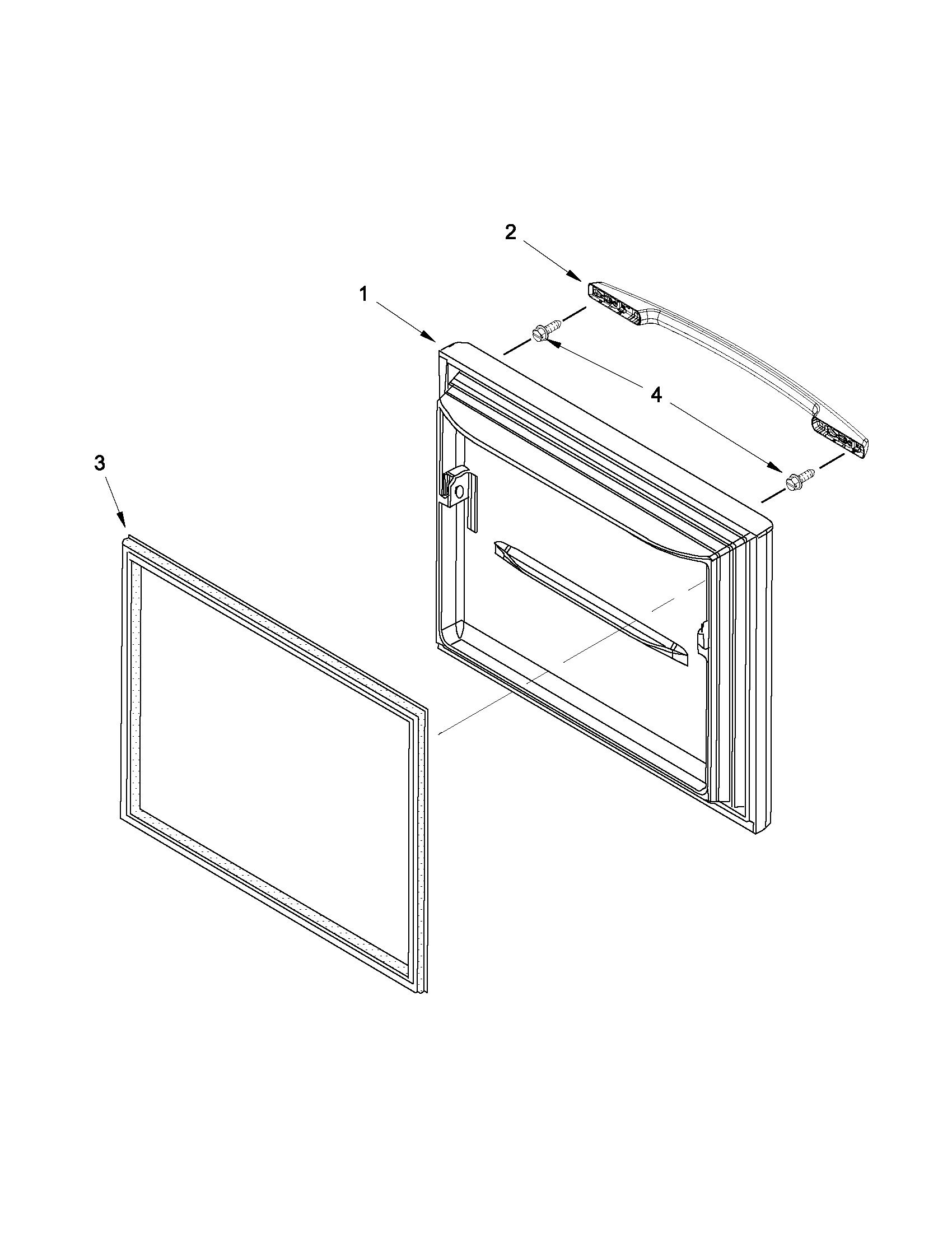Maytag model MBF1958XEW5 bottom-mount refrigerator genuine