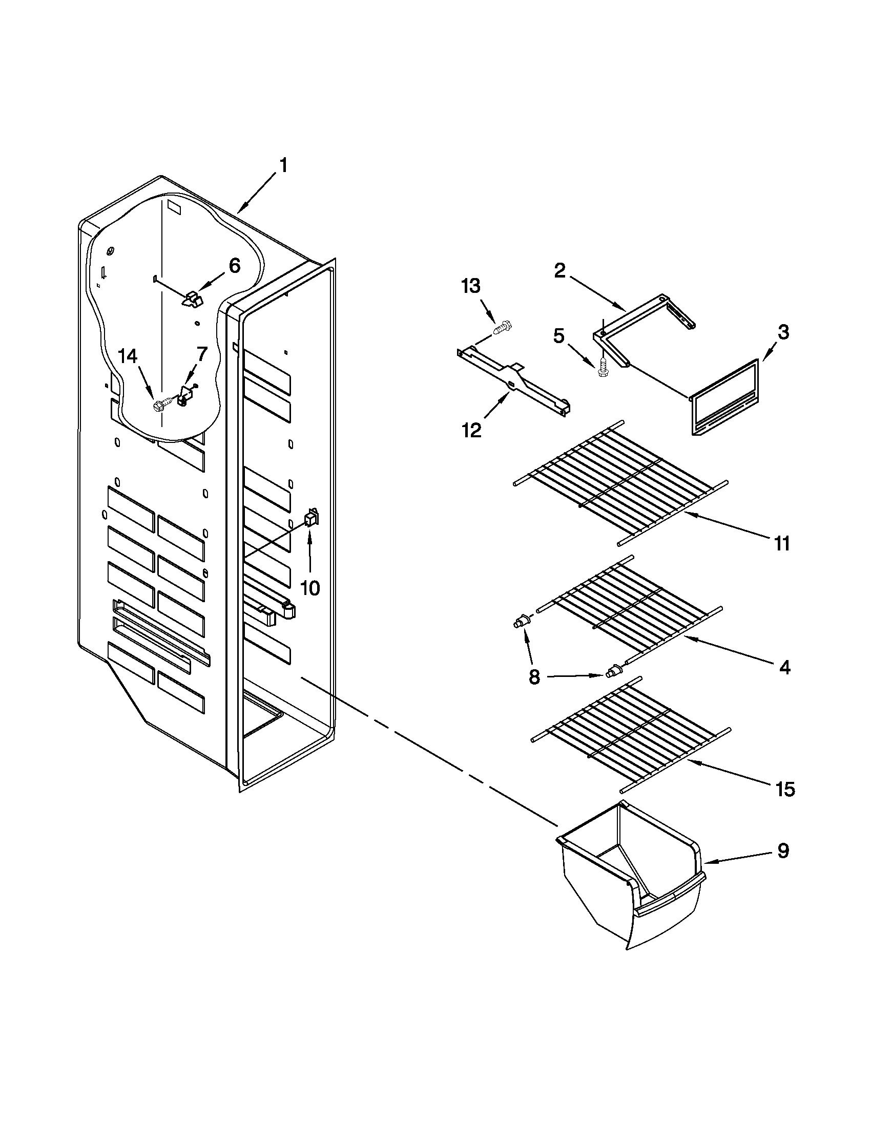 Whirlpool model ED2VHEXVB01 side-by-side refrigerator