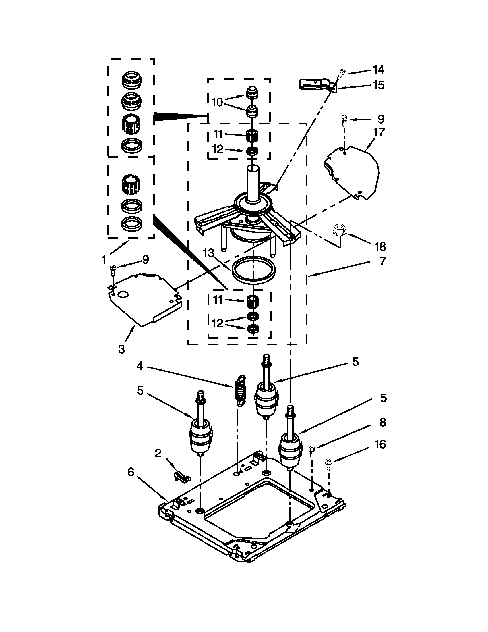 Whirlpool model LTE5243DQB laundry centers/combos genuine