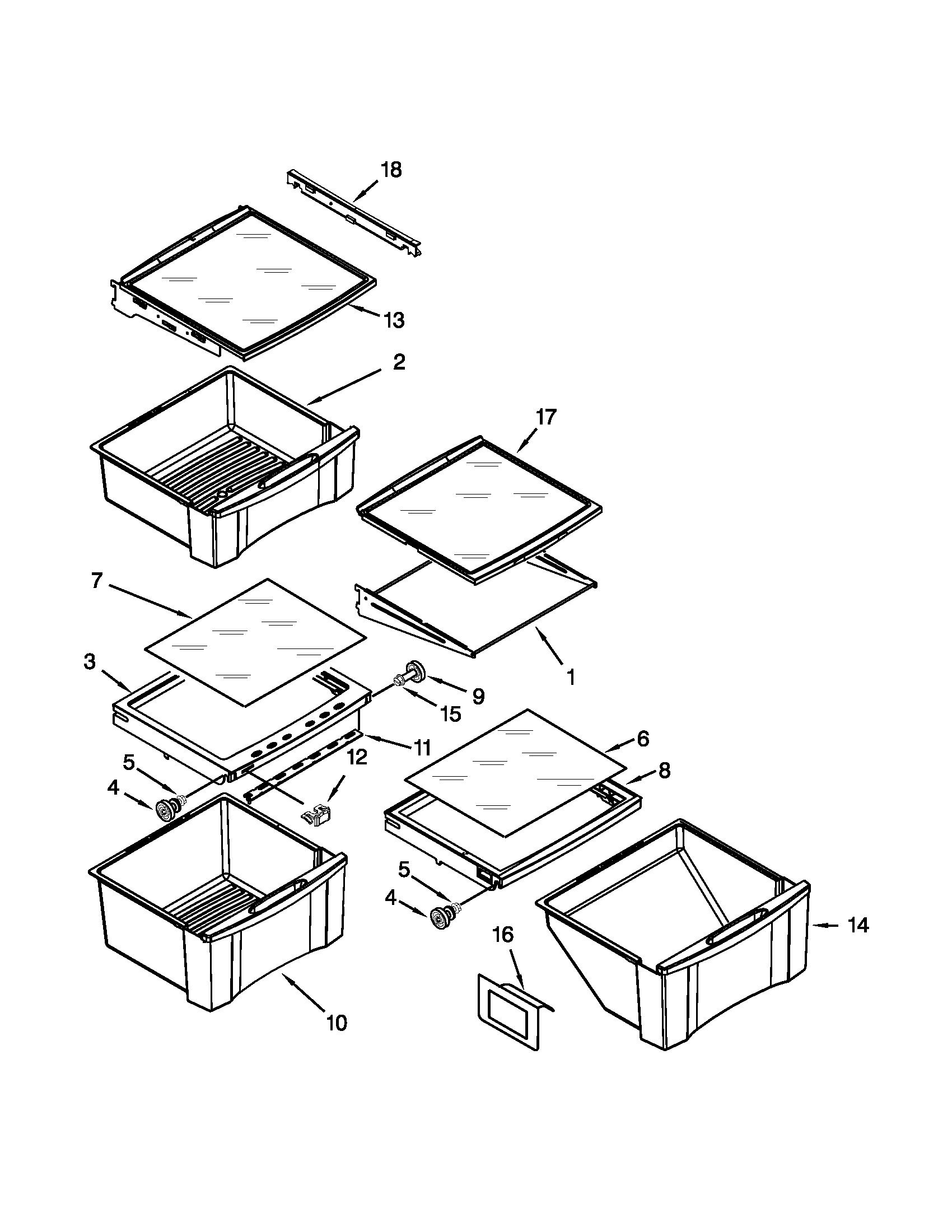 Whirlpool model GD5RVAXVY01 side-by-side refrigerator