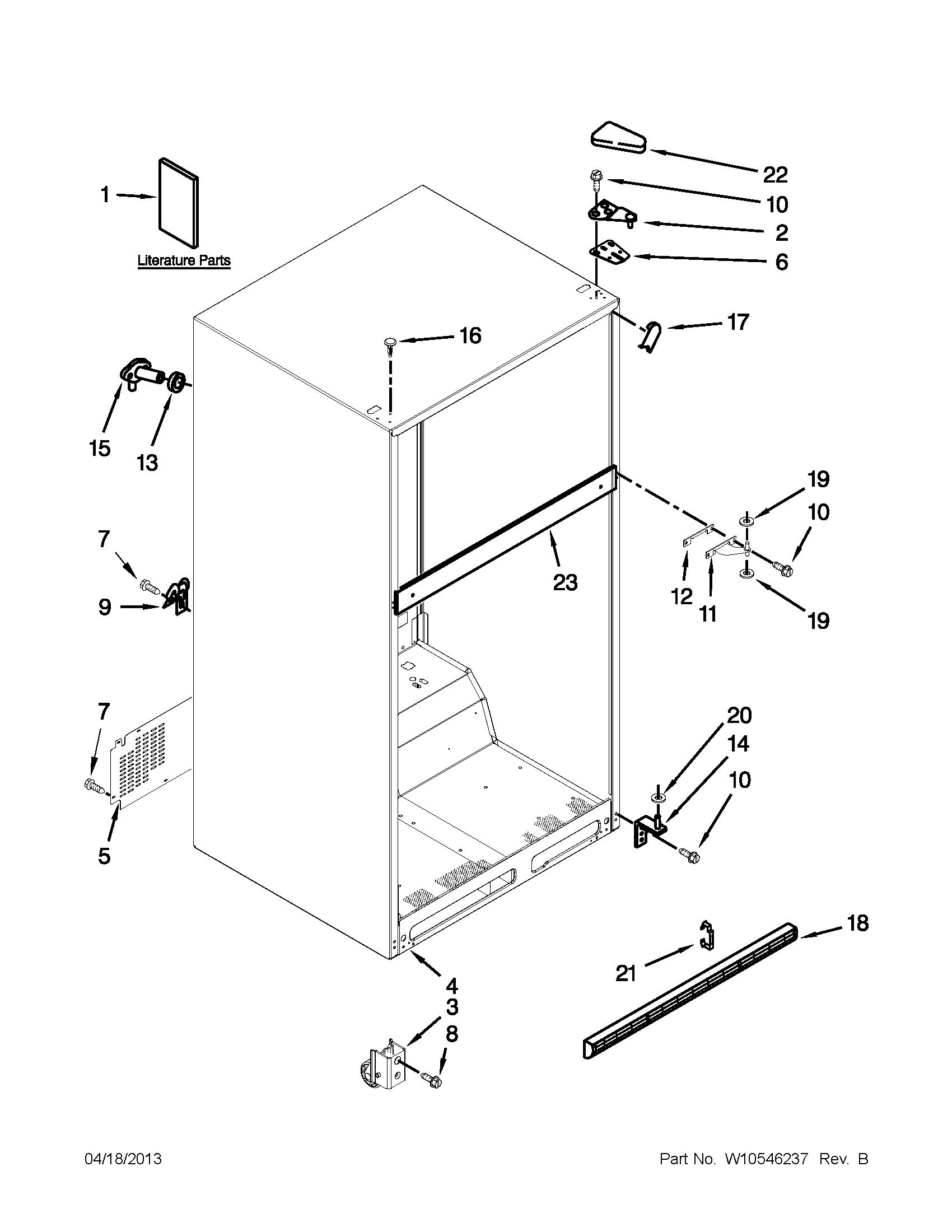 Maytag model M1TXEGMYW01 top-mount refrigerator genuine parts