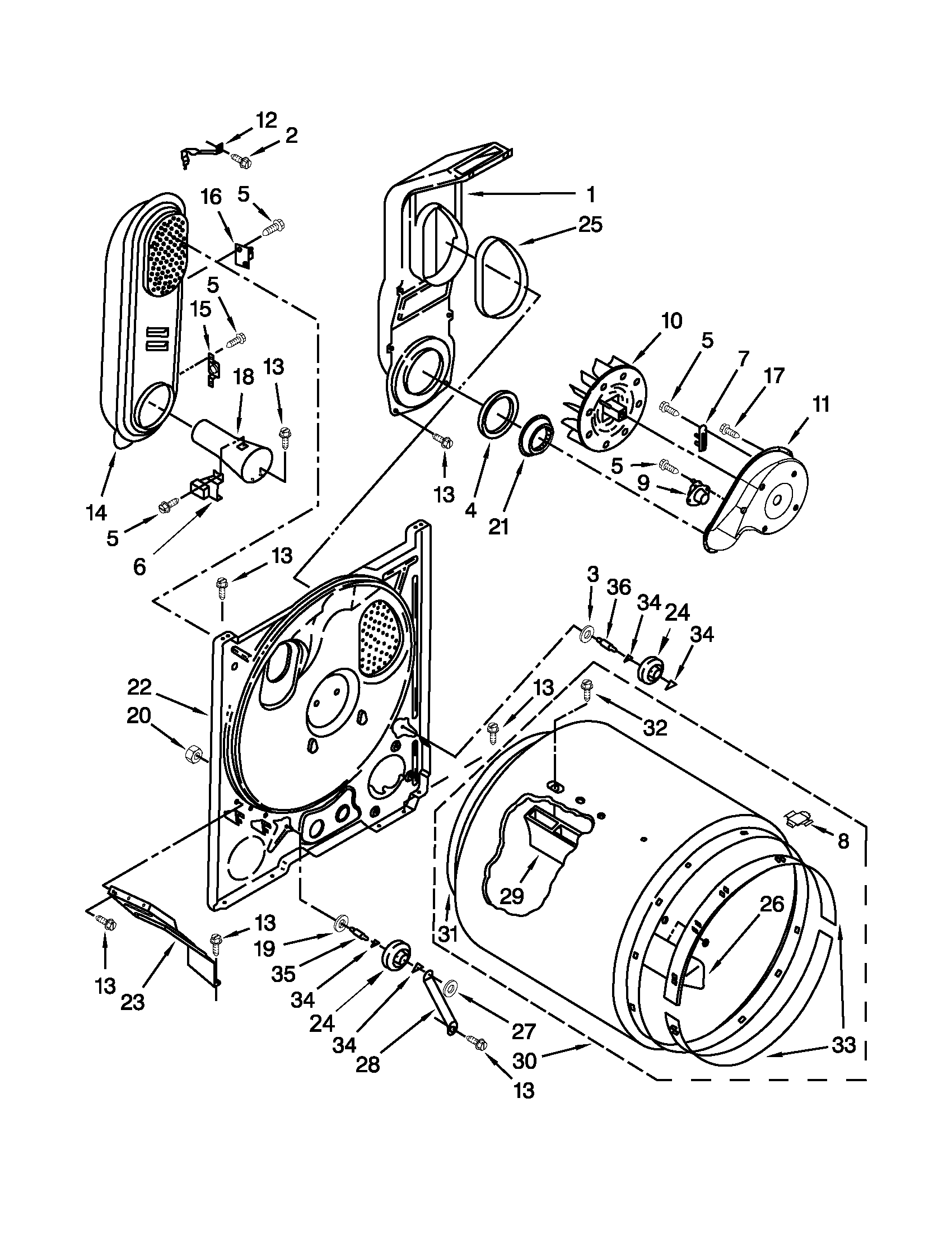 Amana model NGD4600YQ2 residential dryer genuine parts