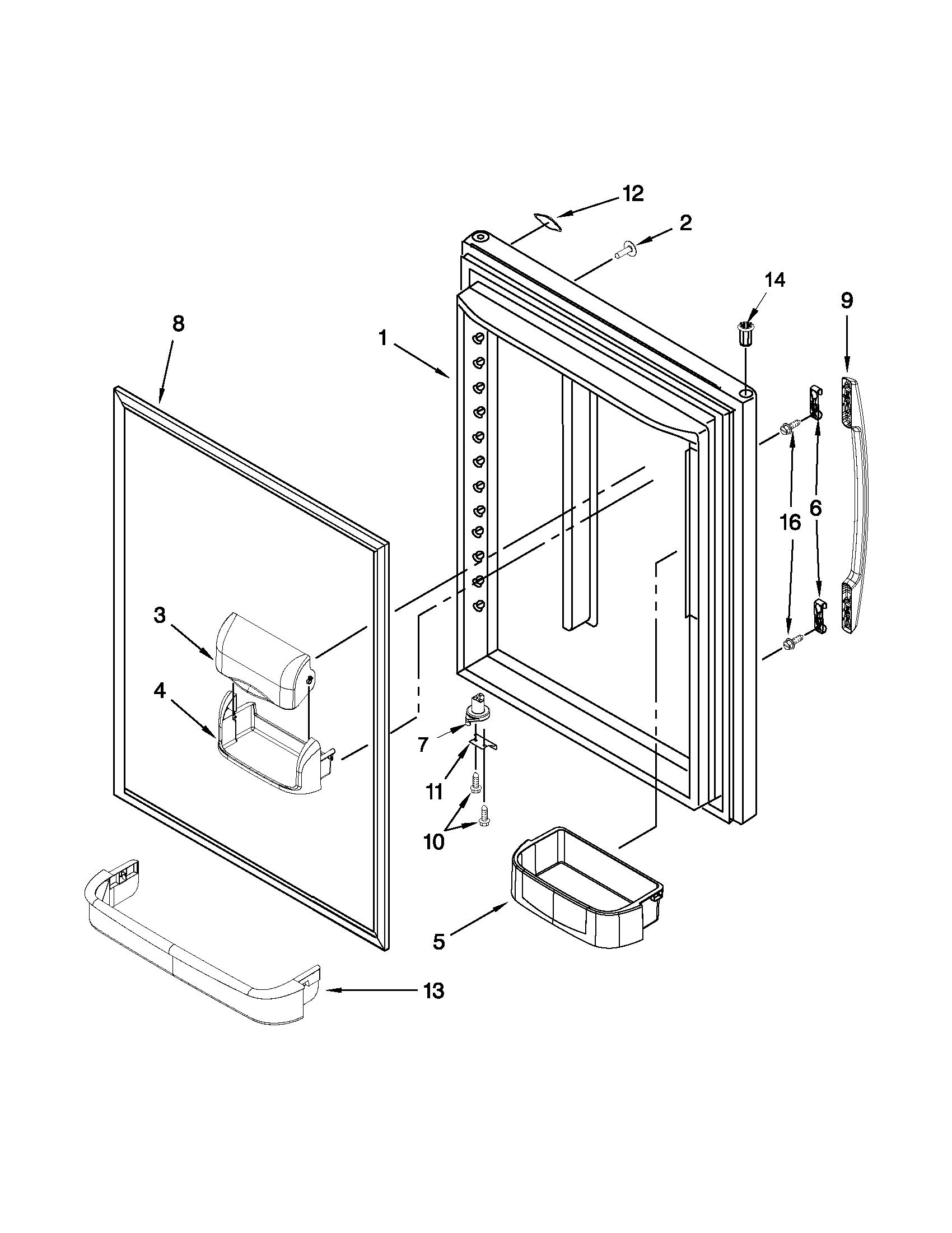 Maytag model MBF1958XES6 bottom-mount refrigerator genuine