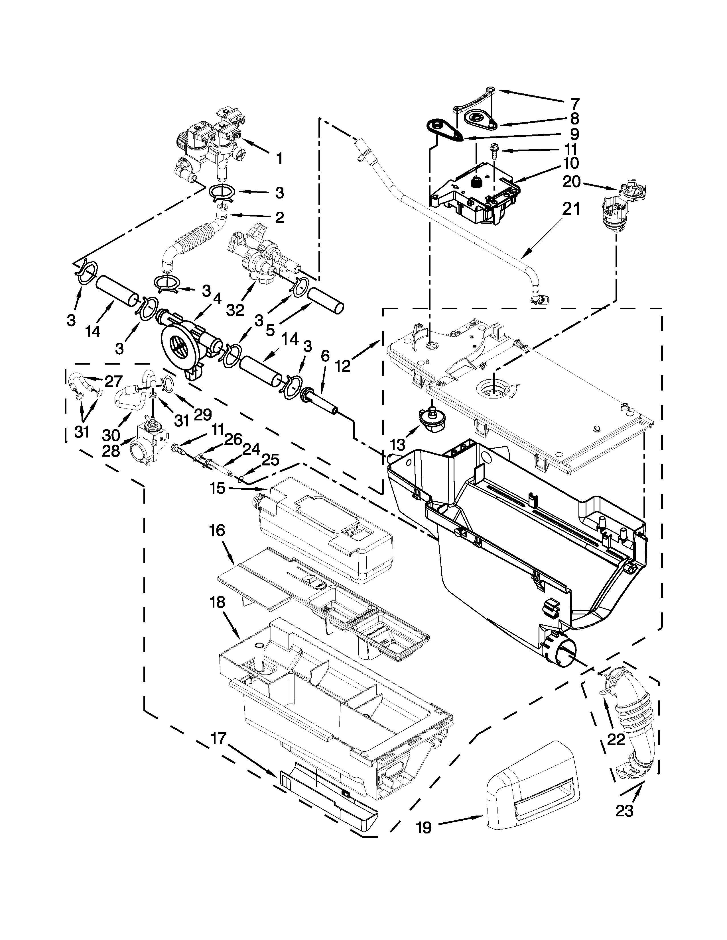 Maytag model MHW9000YW0 residential washers genuine parts