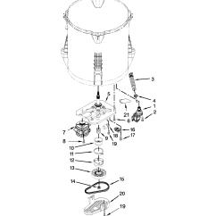 Whirlpool Washer Parts Diagram 2003 Pontiac Aztek Radio Wiring Model Wtw5000dw0 Sears Partsdirect
