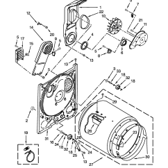 Amana Dryer Schematic Diagram Integra Radio Wiring Model Ned4655ew0 Residential Genuine Parts