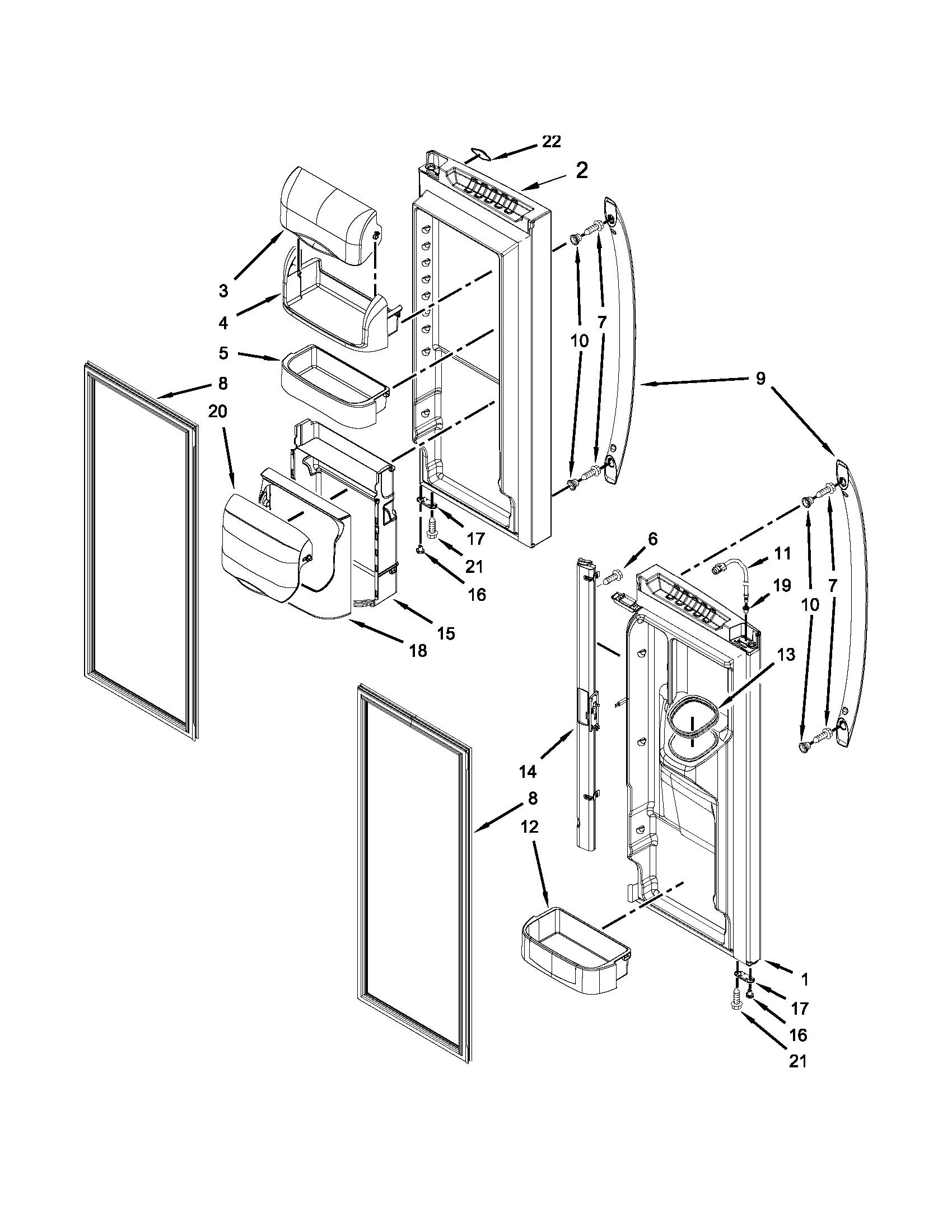 Maytag model MFI2269VEM10 bottom-mount refrigerator