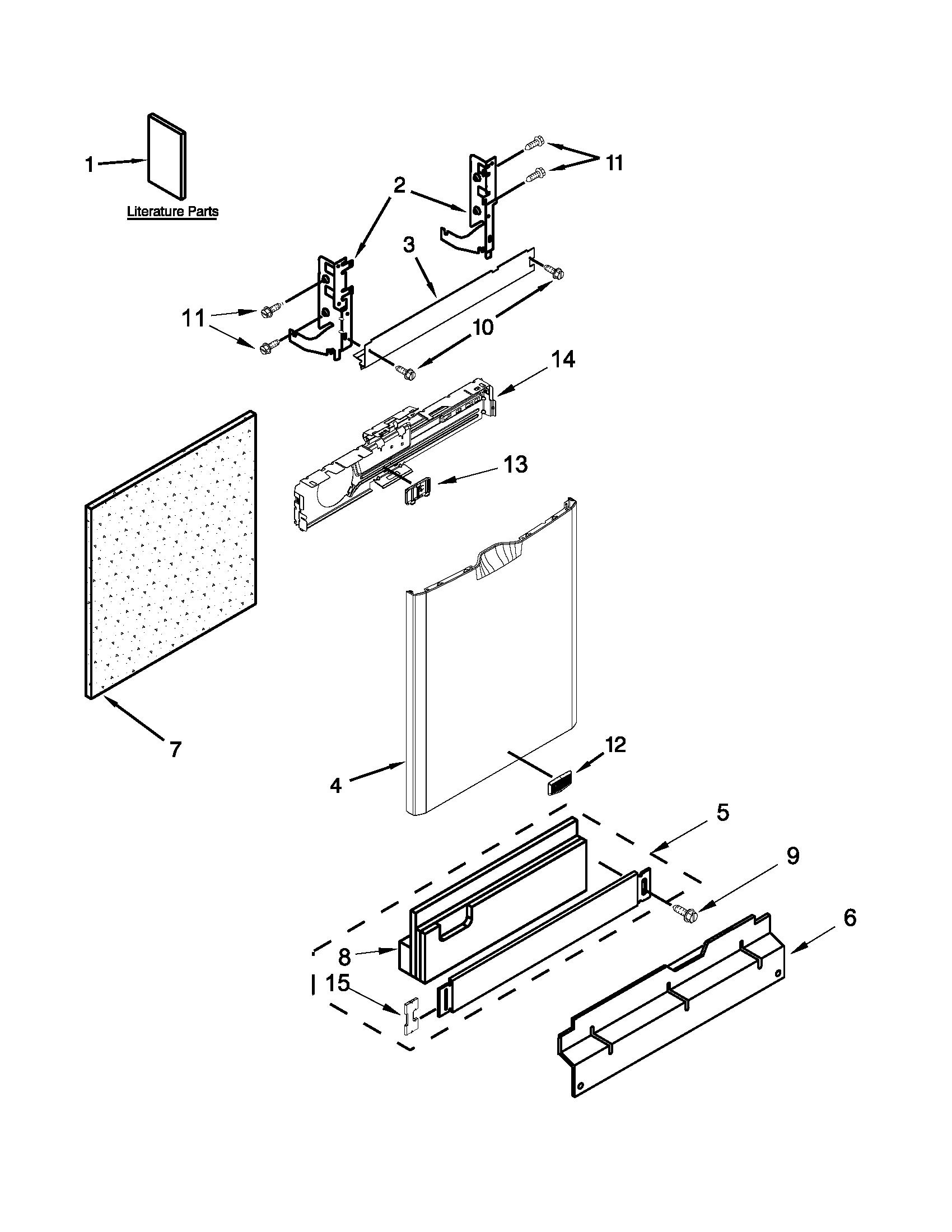 Maytag model MDB4949SDH1 dishwasher genuine parts