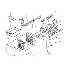 Ice Maker Diagram 2001 Ford F350 Mirror Wiring Kitchenaid Refrigerator Parts Model Kbfs20ecms00 Sears