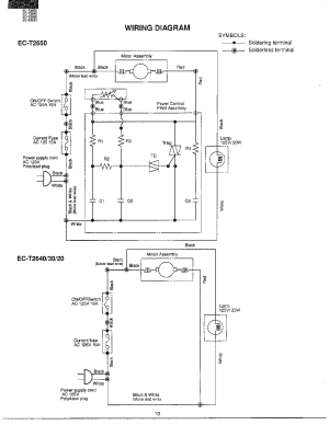 Sharp model ECT2650 vacuum, upright genuine parts