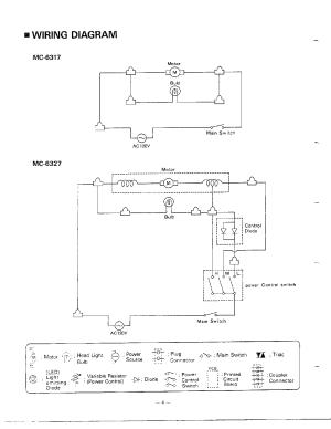 Panasonic model MC6347 vacuum, upright genuine parts