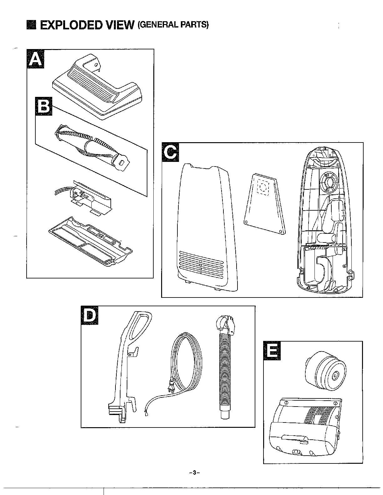 Panasonic model MC-6815 vacuum, upright genuine parts