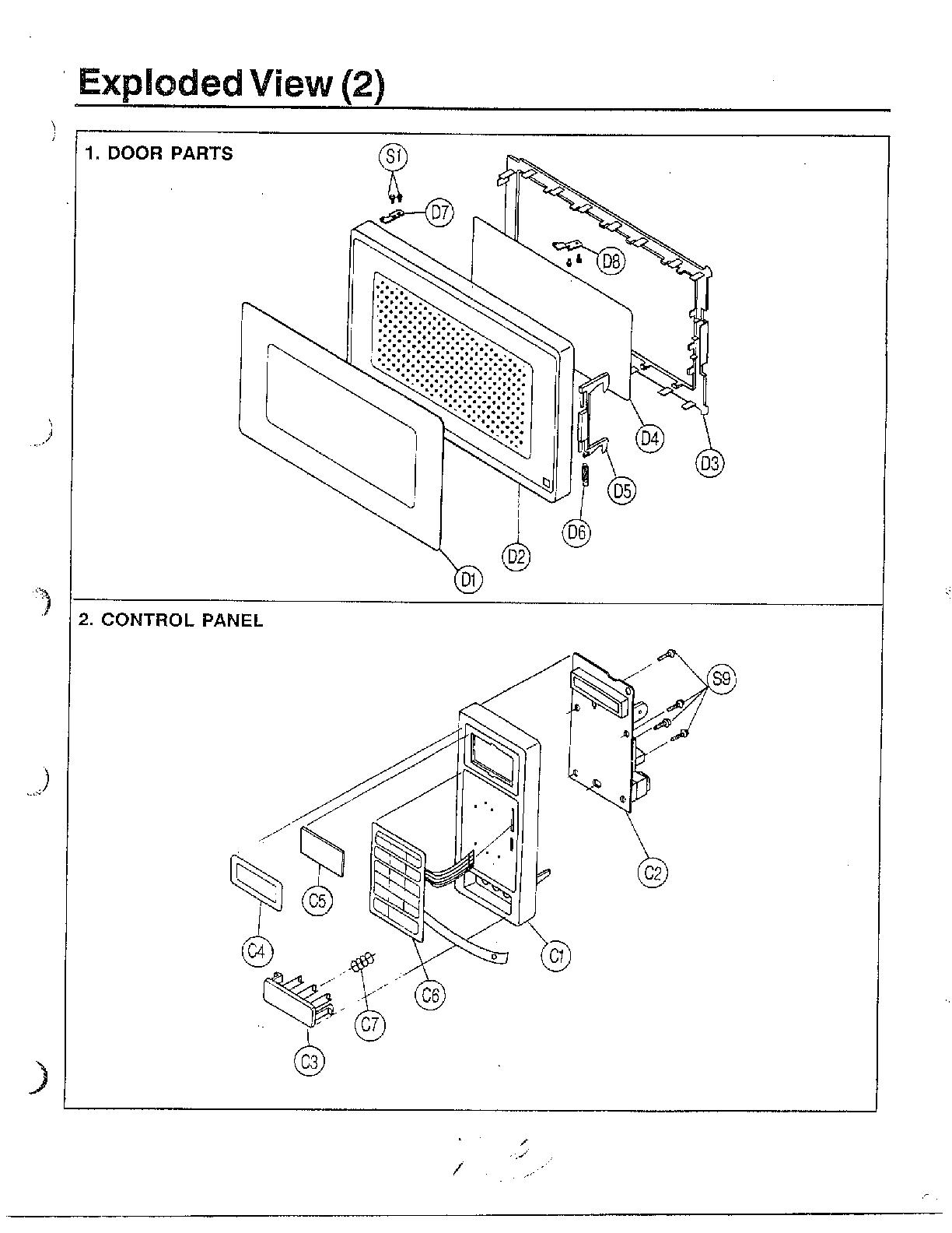 Samsung model MW3700W/XAA countertop microwave genuine parts