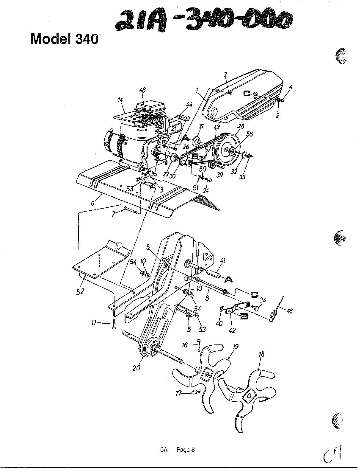 Mtd model 21A-035-000 rear tine, gas tiller genuine parts