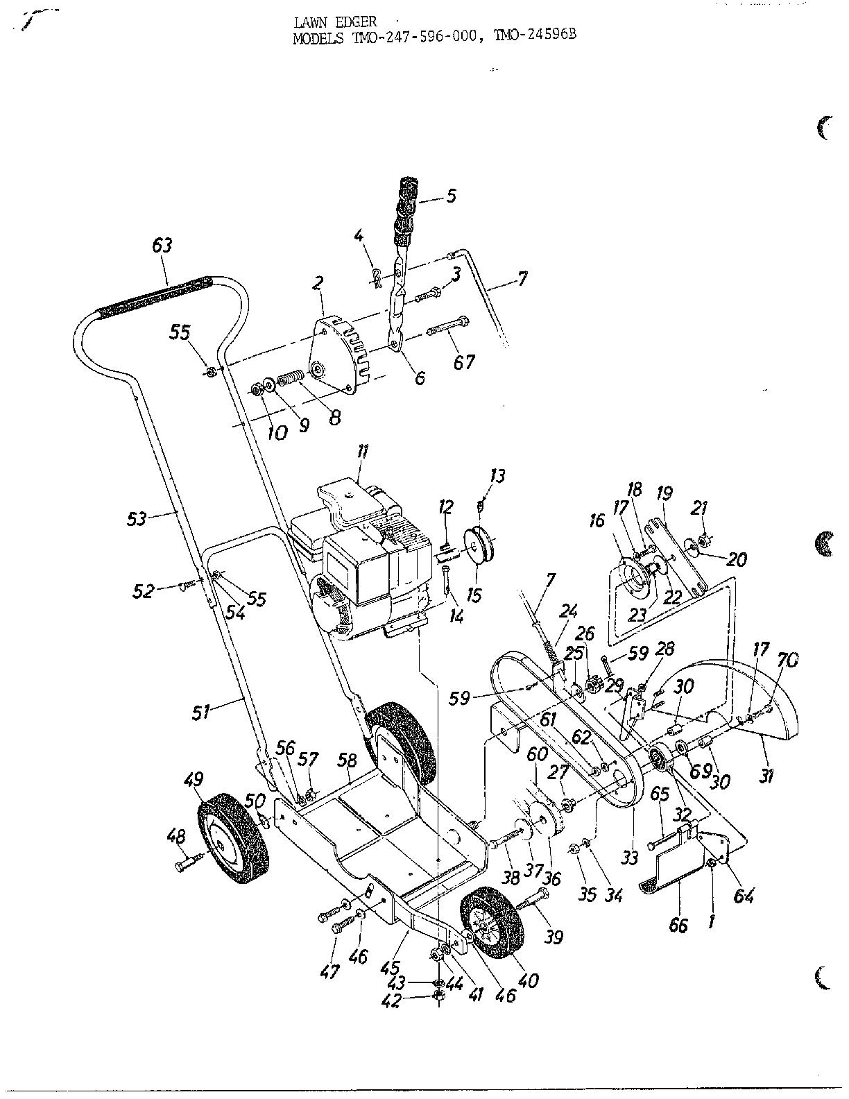 Mtd model 247-604-000 edger genuine parts