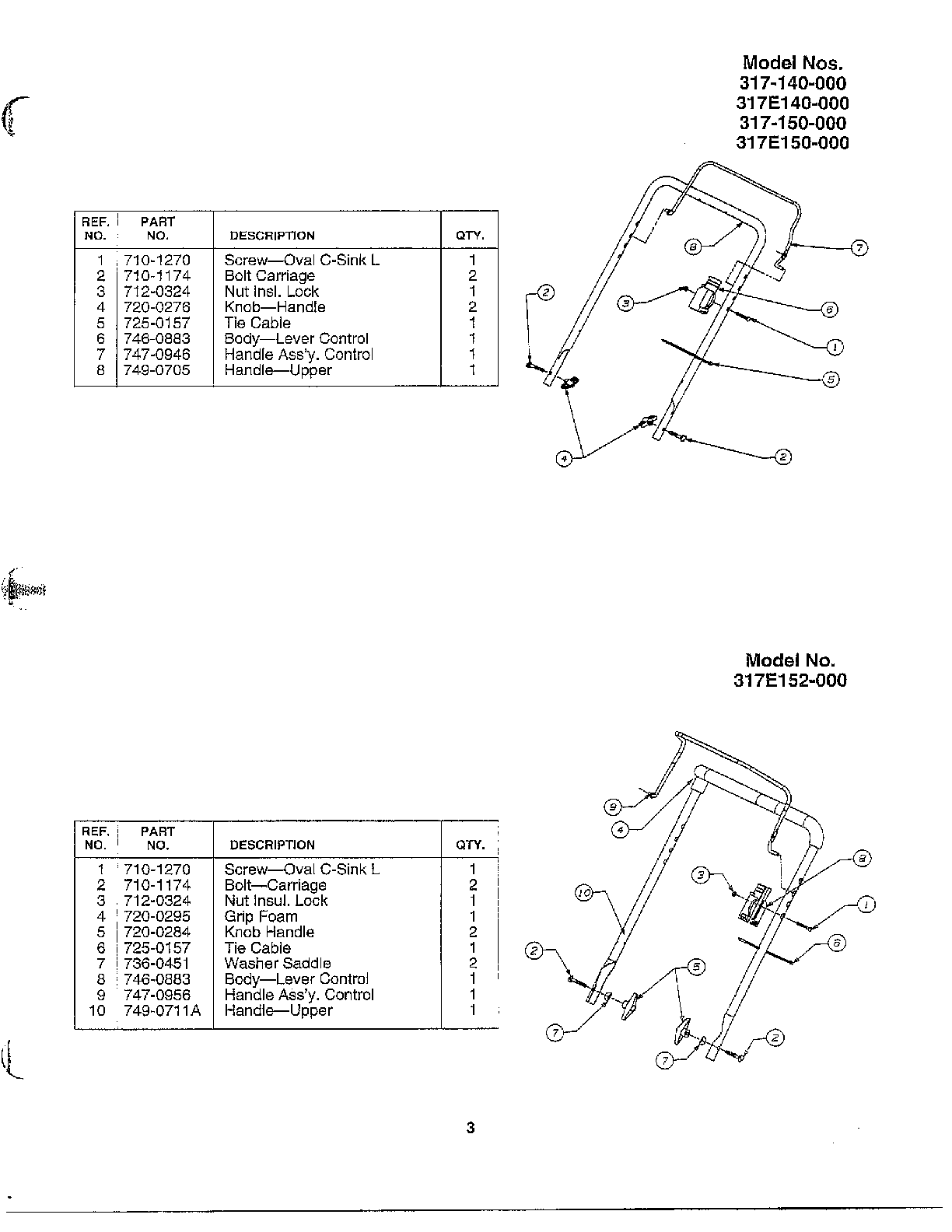 Mtd model 317-140-000 snowthrower, gas genuine parts