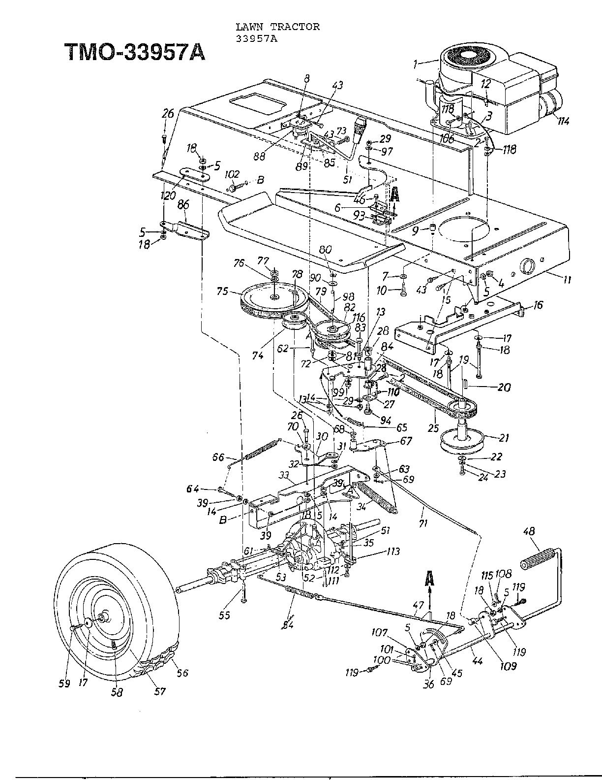 Mtd model 33944A lawn, tractor genuine parts