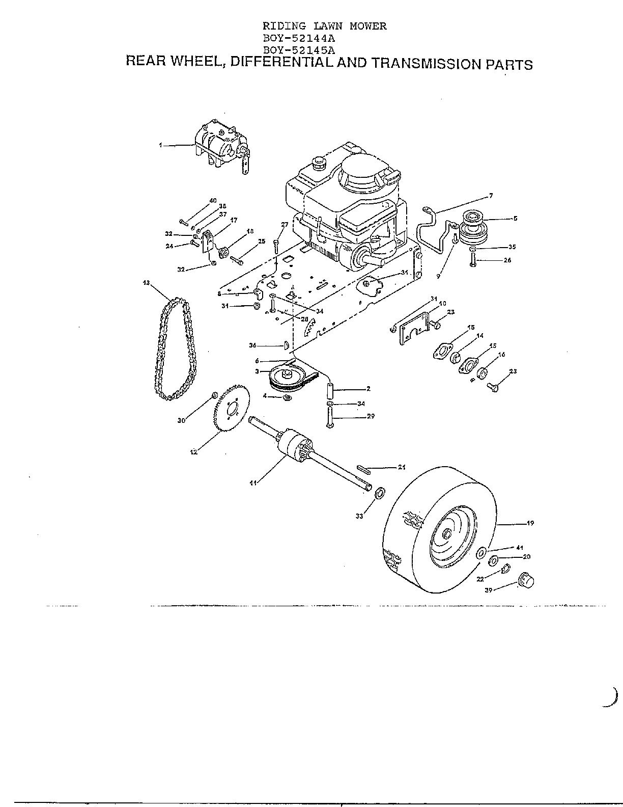 Lawn-Boy model 52144A lawn, tractor genuine parts