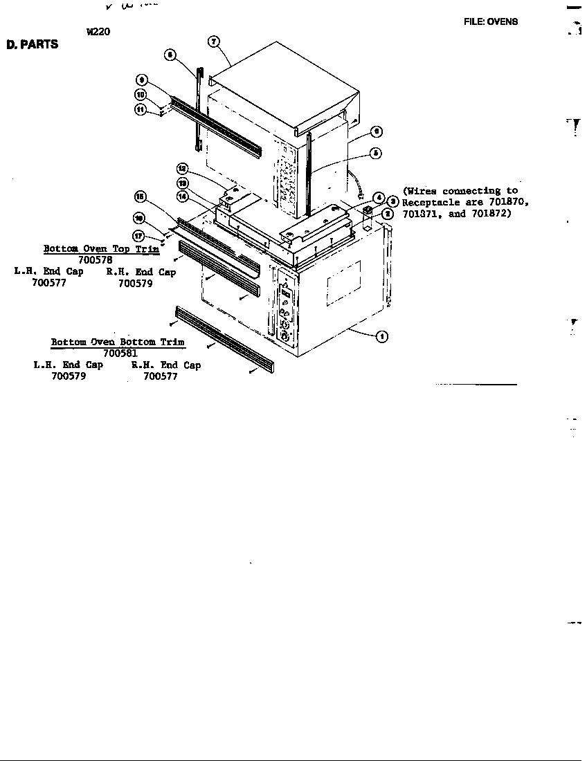 Jenn-Air model 800181 ranges, electric genuine parts