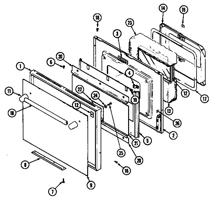 Jenn-Air model SEG196 slide-in range, electric/gas genuine