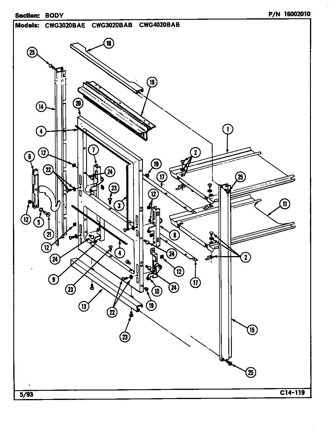 Maytag model CWG3020BAB wall oven, gas genuine parts