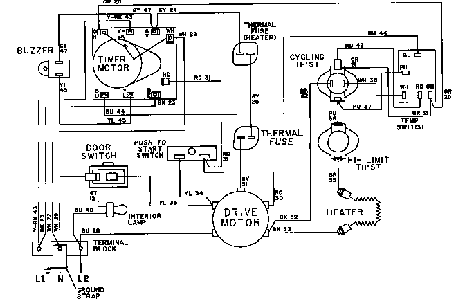 Maytag model LDG4914AAE laundry (26) genuine parts