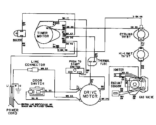 Maytag model LDE6004ACW residential dryer genuine parts