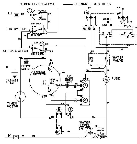 Maytag model LAT7304AAE washers genuine parts