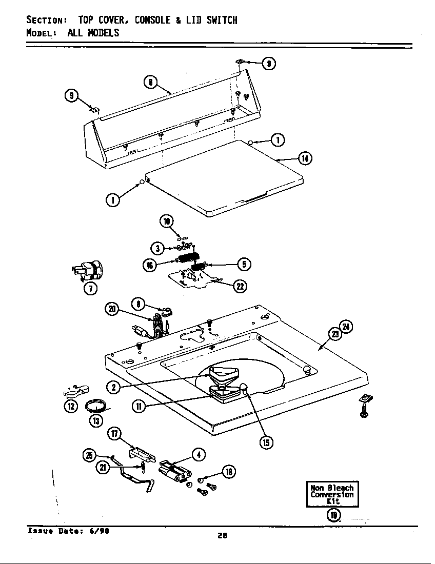 Maytag model A5000 washers genuine parts